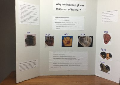 Why are baseball gloves leather?